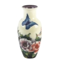 "Old Tupton Vase 8.5"" Butterfly Pattern"