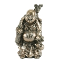 Polished Bronze Buddha holding jug
