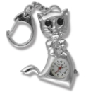 Silver Coloured Cat Keyring