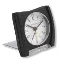 Black Slimline Travel Alarm Clock