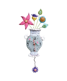 Allen Designs Fresh Flowers Clock