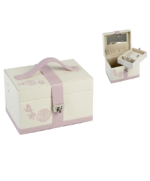 Sophia Jewel Box Butterfly/Flowers pink