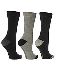 6 Pk Plain True Socks  Heel & Toe