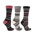 6 Pk Jacquard True Socks - Muted Stripes