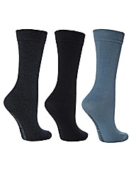 6 Pk Plain True Socks