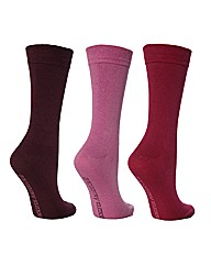 3 Pk Plain True Socks