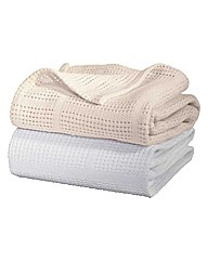 Cellular Flat Cot Bed Baby Blanket