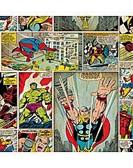 Marvel Comic Strip Childrens Wallpaper