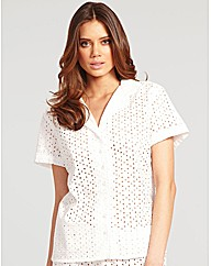 Broderie Short Sleeve PJ Top