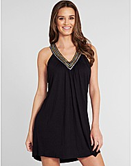 Marina Embellished Jersey Dress