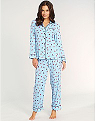 Rainbow Robins Print Pj Set