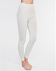 Thermal Lace Trim Stripe Legging