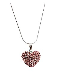 Crystal Heart On A Sterling Silver Chain