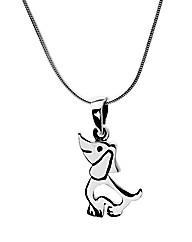 Sterling Silver Dog Necklace