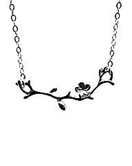 Sterling Silver Blossom Branch Necklace