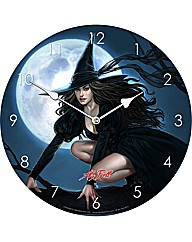 Pink Witch Clock