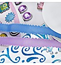 Create and Craft Blue and Purple Embelis