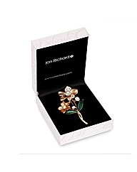 Jon Richard Brown Tonal Flower Brooch