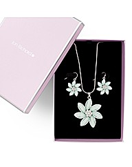 Jon Richard Flower Necklace and Earring