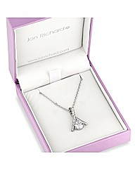 Jon Richard Crystal Curve Drop Necklace