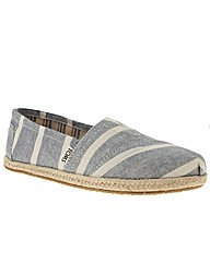 Toms Seas Stripe Rope Sole