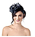 Jon Richard Black Satin Bow Fascinator