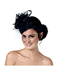 Jon Richard Jet Corsage Vale Fascinator