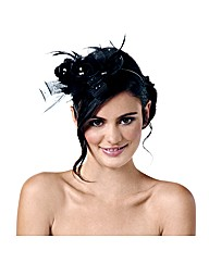 Jon Richard Jet Rose Wrapped Fascinator