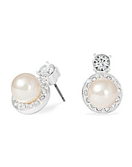 Jon Richard Pearl Surround Stud Earring