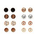 Mood Tonal Bronze Crystal Eight Stud Set