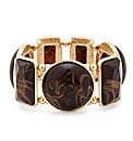 Mood Brown Marble Effect Stone Bracelet