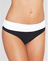Monochrome Fold Bikini Brief