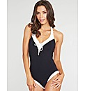 Monochrome Halter Swimsuit