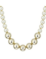 Mood Pearl And Gold Chunky Necklace