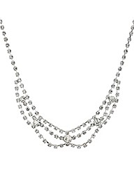 Mood Three Loop Diamante Bib Necklace