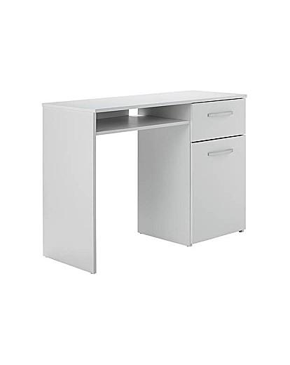 Image of Hayward Office Desk - White Gloss.