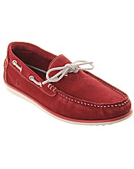 Starboard Bright Suede Loafer Boat Shoe
