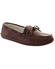 Crown Wool Mens Leather Slipper