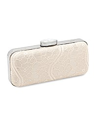 Jon Richard Champagne Lace Clutch Bag