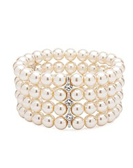Jon Richard 4 Row Pearl Stretch Bracelet