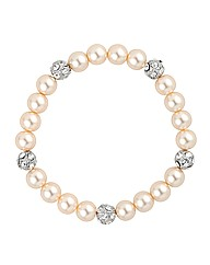 Jon Richard Pearl Crystal Ball Bracelet
