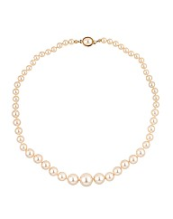 Jon Richard Cream Pearl Knot Necklace