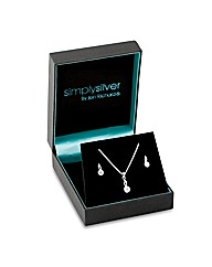 Simply Silver Cubic Zirconia Twist Set