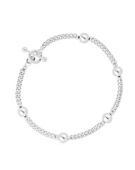 Simply Silver Ball Mesh Chain Bracelet
