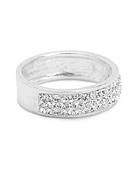 Simply Silver Narrow Crystal Band Ring