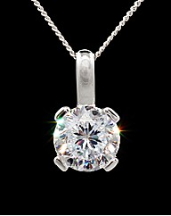Silver and CZ Solitaire Pendant