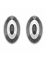 Gents Oval Grey Cufflinks