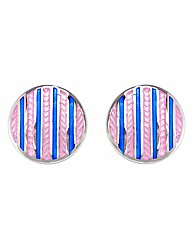 Gents Pink and Blue Stripe Cufflinks