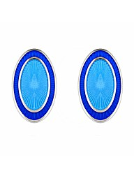 Gents Blue Oval Cufflinks