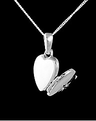 Silver and Diamond Set Heart Locket